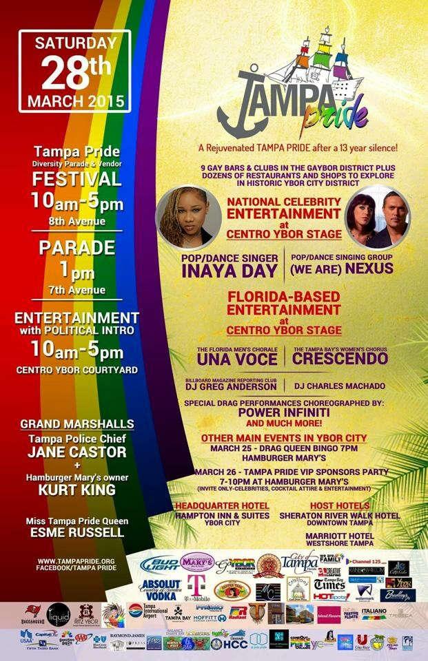 Tampa Pride 2015 Poster